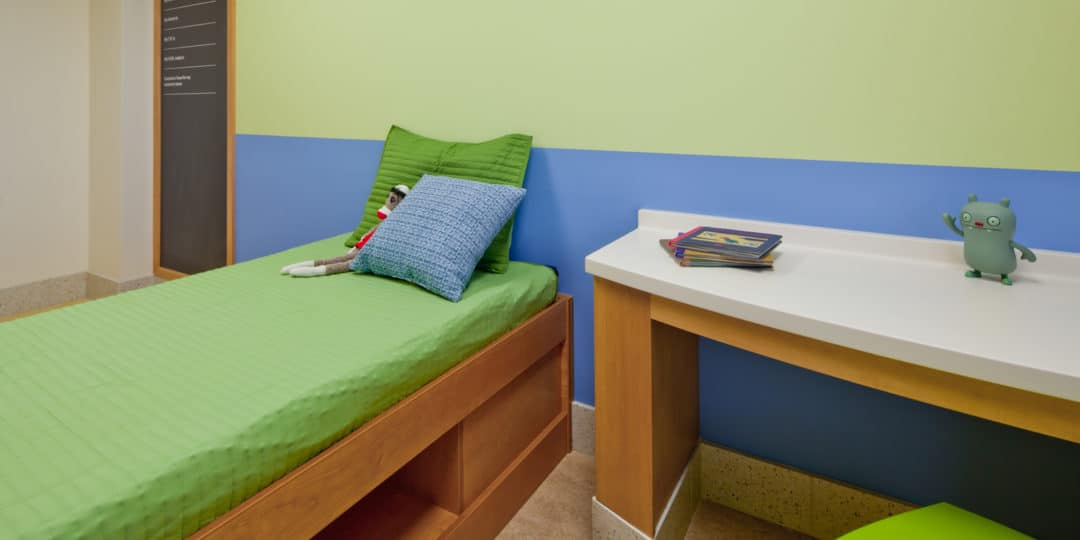 Pediatric mental health patient room