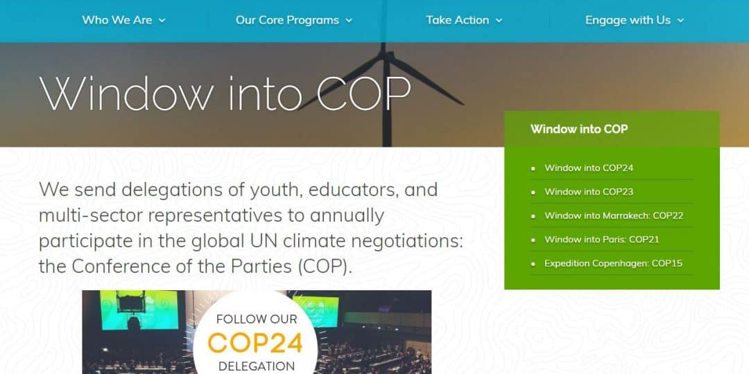 Climate Generation: Window into COP