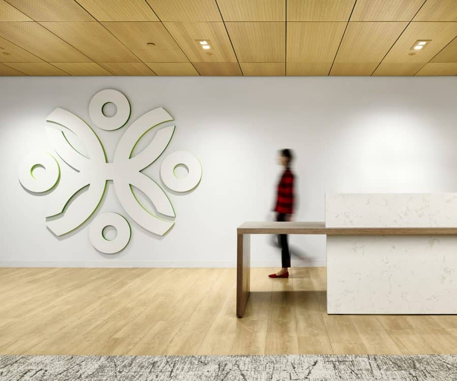 Securian Financial Human Resources HR Lobby Reception Renovation
