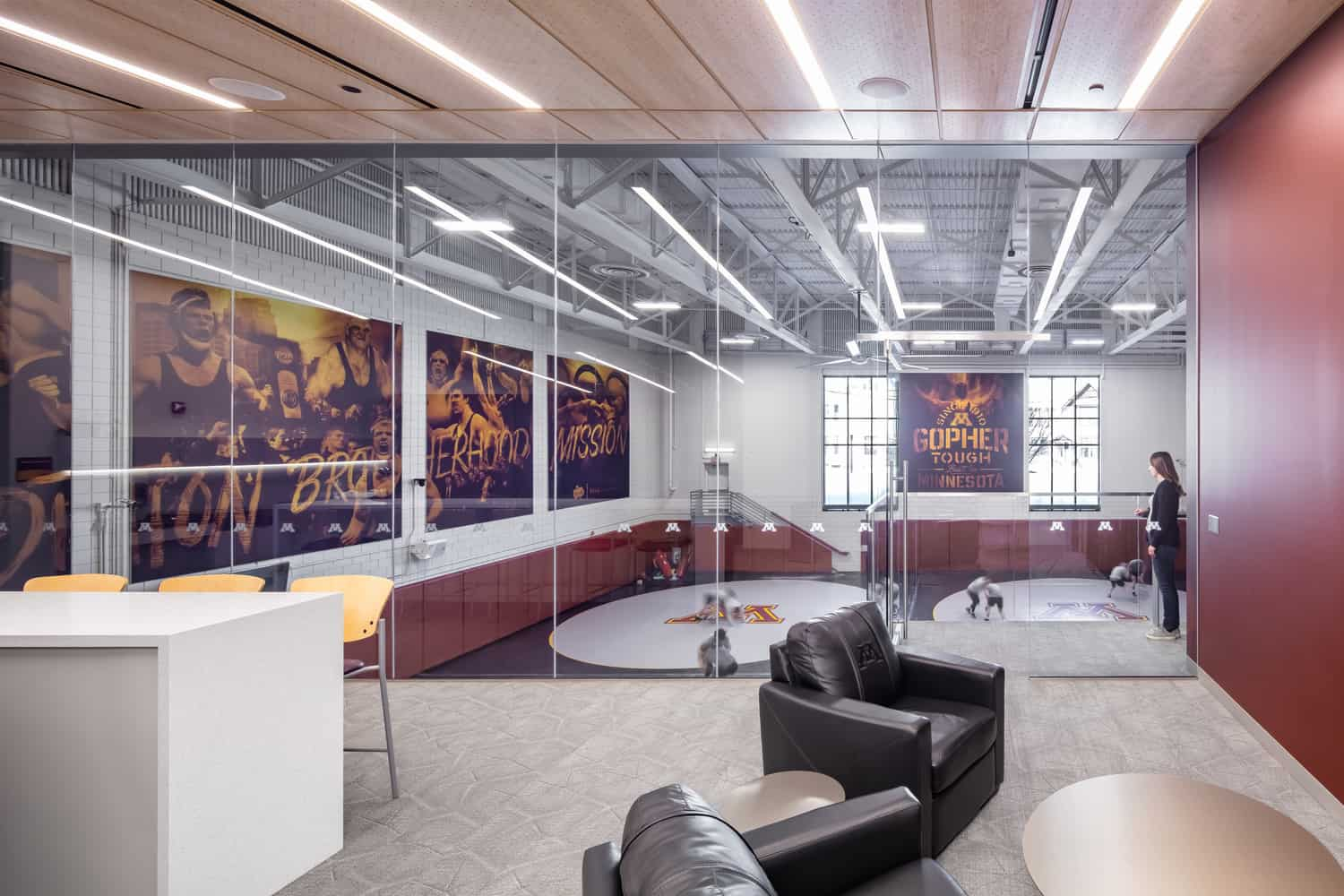 University of Minnesota Wrestling Training Facility Student-Athlete Lounge