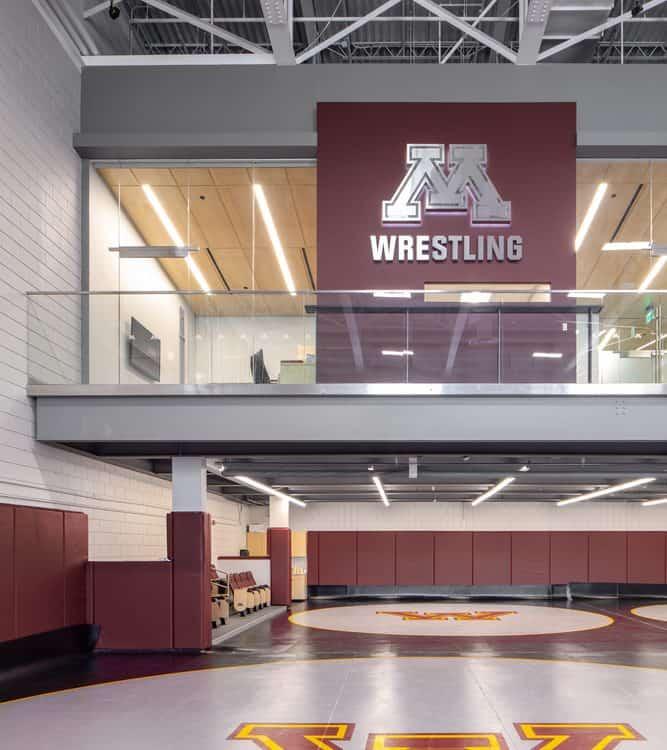 University of Minnesota Gopher Wrestling Training Facility Mezzanine Offices