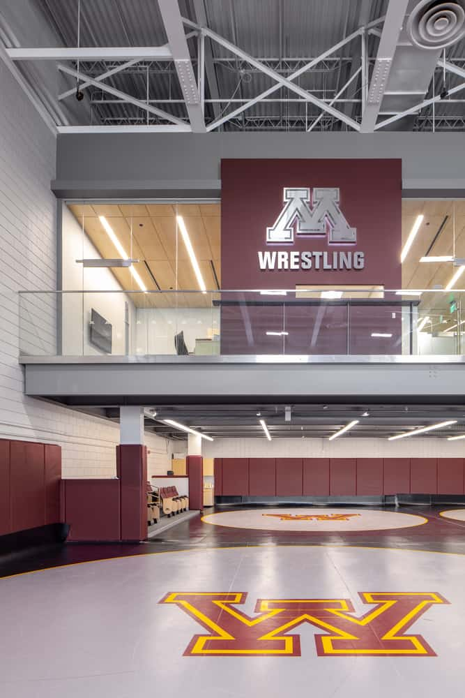 University of Minnesota Gopher Wrestling Training Facility Mezzanine Offices