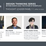 Promotional of panelists for BWBR Design Thinking Series: The Future of Workplace