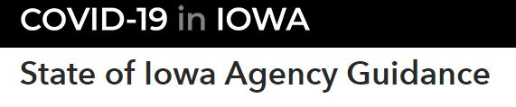 State of Iowa Agency Guidance