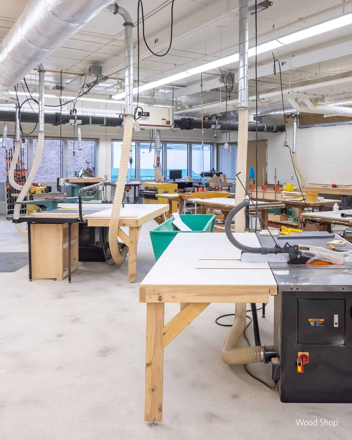 A wood shop for patients to practice working skills.