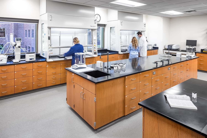 An organic chemistry lab.