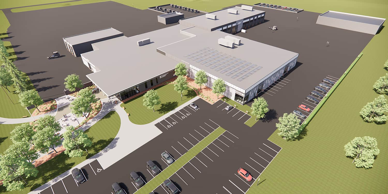 Rendering of the overall Transportation Education Center site plan.