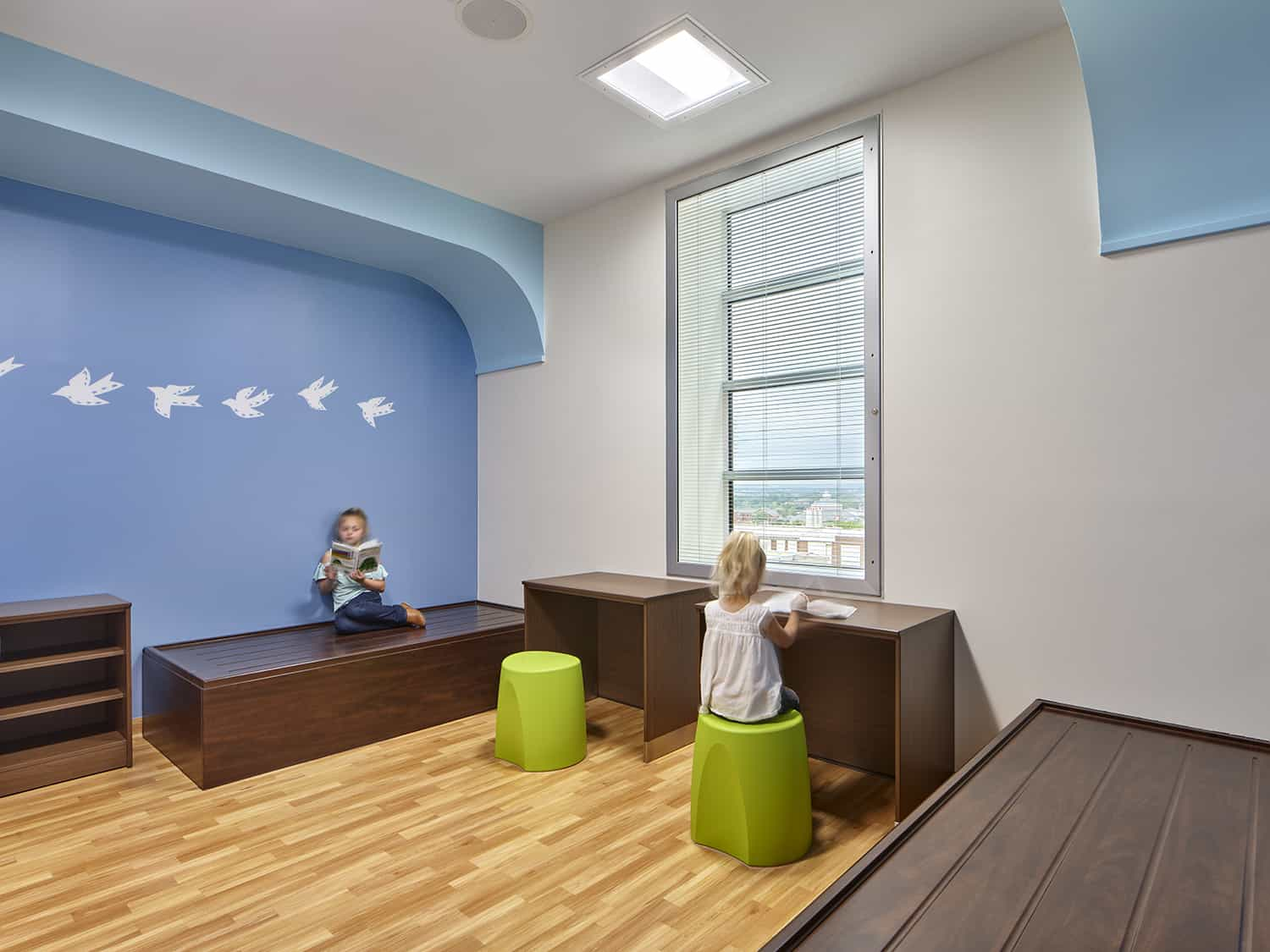 An example of a double patient room in the CAP unit.