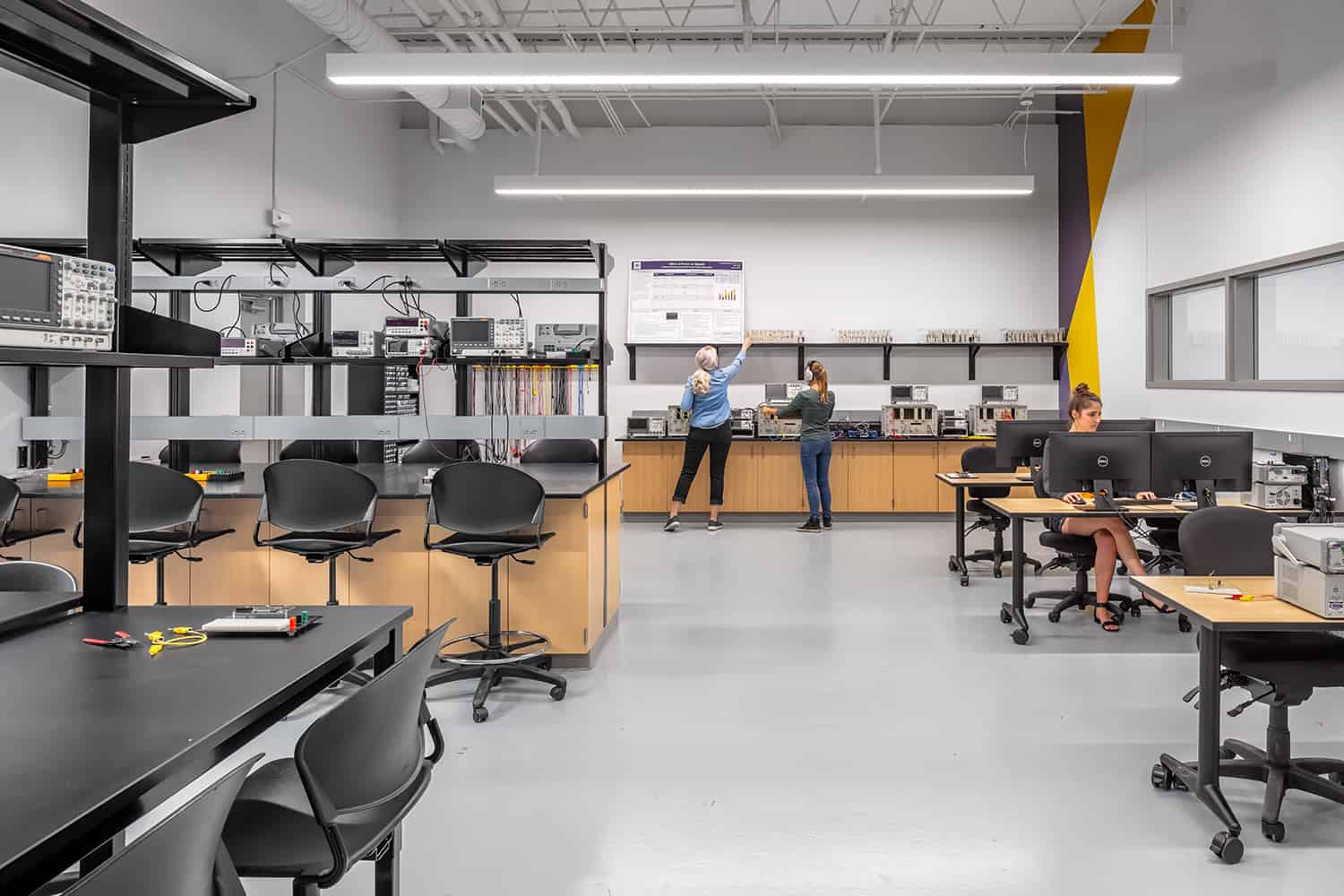 A large classroom engineering lab.