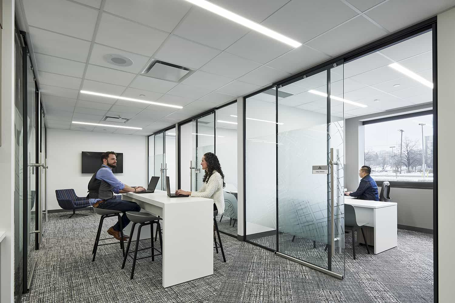Break out space outside of private offices.