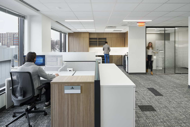 Open office workstation.