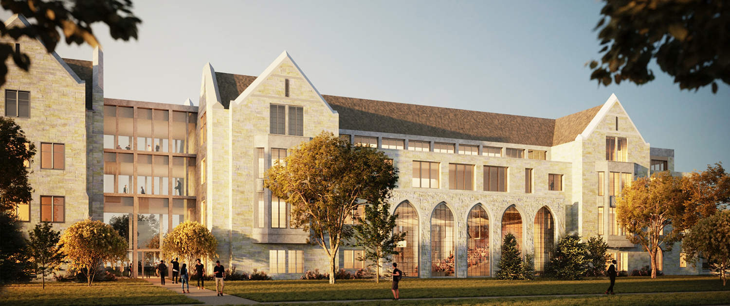 Exterior rendering of the new facility from Summit Ave.