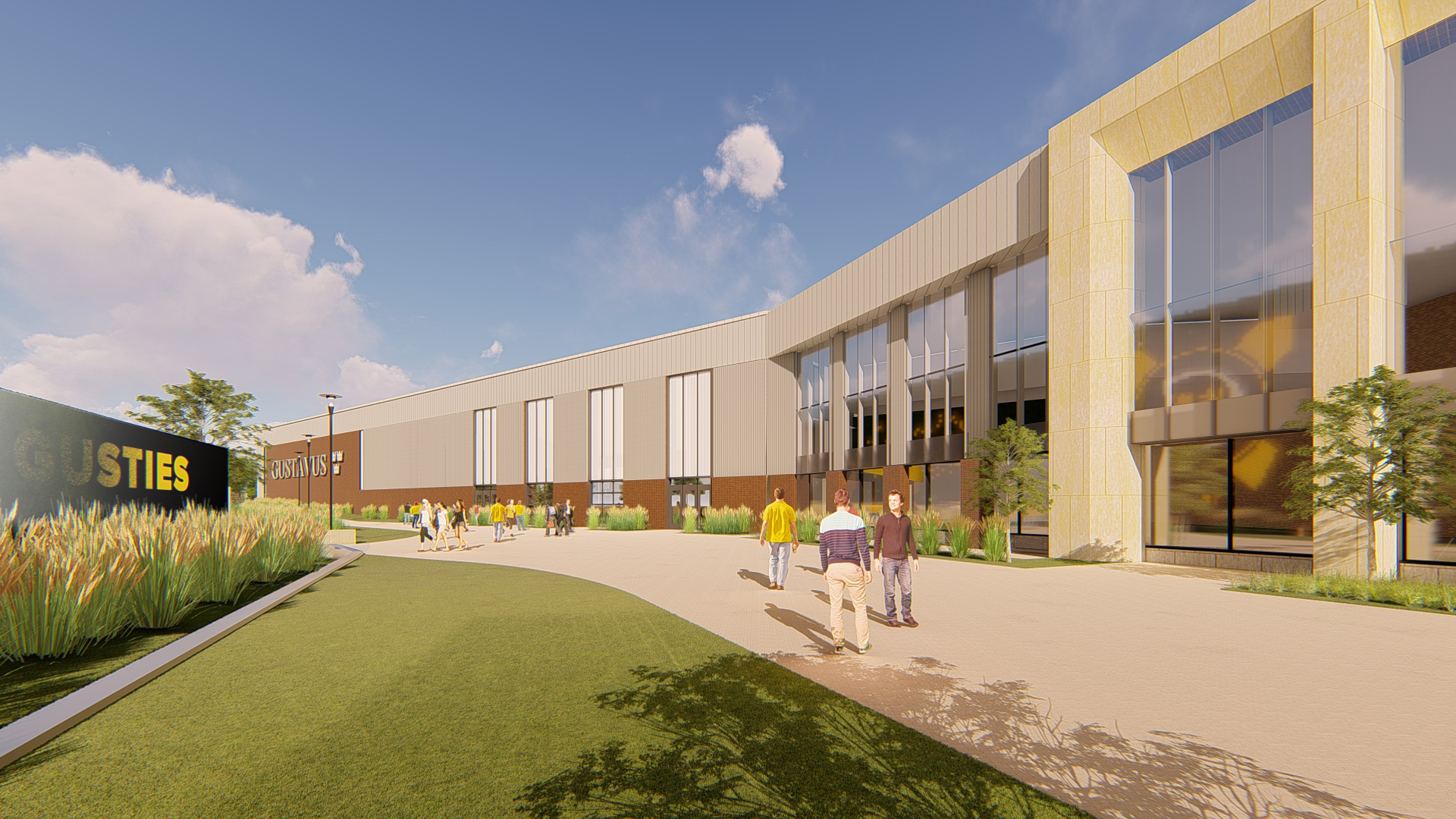 Exterior rendering of the overall Lund Center expansion.