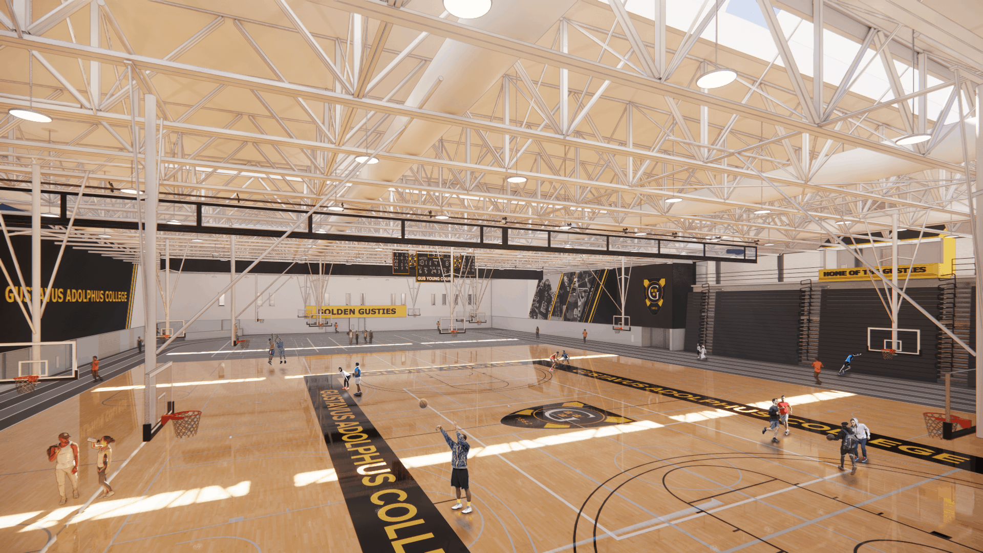 Rendering of the Lund Center's new gymnasium.